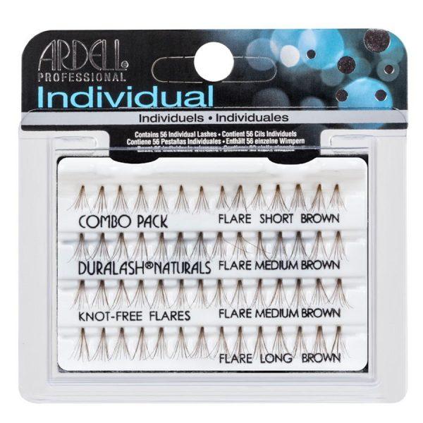 6a922f9387d ardell Individual Lash Combo Pack Knot Free Natural Long, Short , Medium  Brown